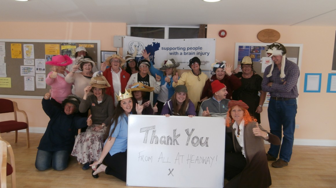 Hats for Headway success!